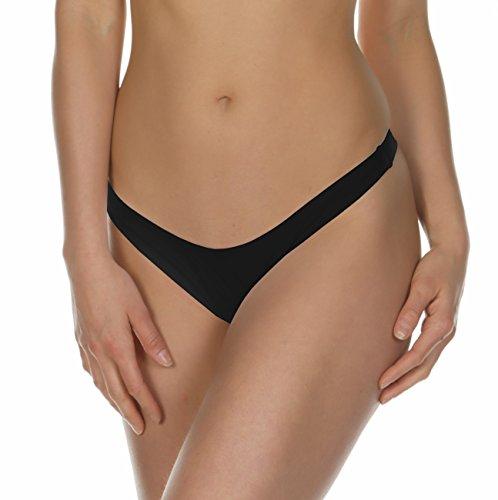 KKompany brasileño de la mujer tanga Bikini inferior tanga tanga Bañador separa negro