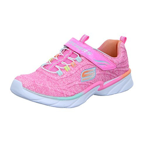 Skechers Kids Girls' Swirly Shimmer Time Sneaker, Pink/Multi, 13 M US Little Kid