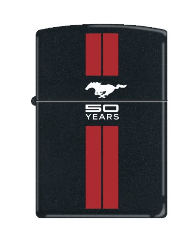zippo-lighter-ford-mustang-50th-anniversary-black-matte