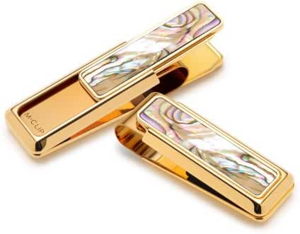M-Clip Men's New Yorker Abalone Money Clip One Size Gold