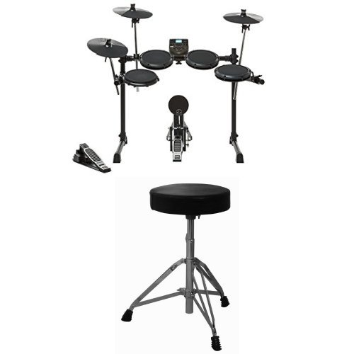 Alesis DM6 Nitro Electronic Drum Set Bundle with Drum Throne by Alesis