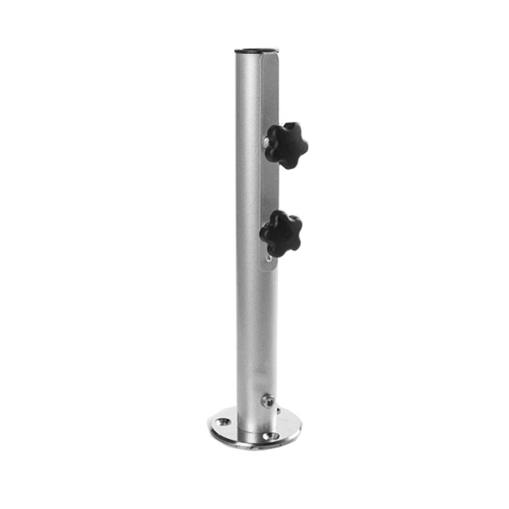 Deck Mount Umbrella Base with Camlock and 1.5 inch Dia stem for Patio/Market Umbrellas