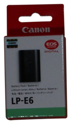 Canon LP-E6 Battery Pack for Select Canon Digital SLR Cameras - Retail Packaging