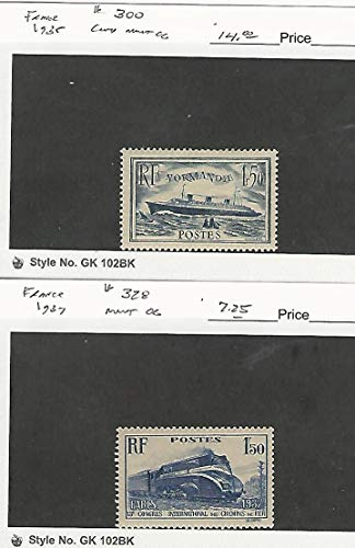 (France, Postage Stamp, 300, 328 Mint Hinged, 1935-37 Train, Ship,)