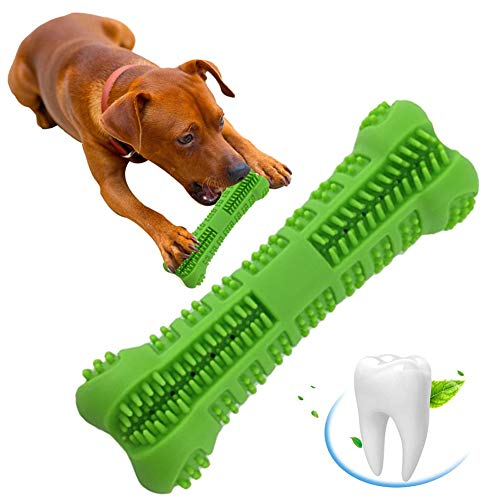 Outopu Pet Toothbrush Silicone Chew Toy – Doggy Teeth Cleaning Small Dog Bone Shape Stick Dog Toothbrush Doggy Puppy…