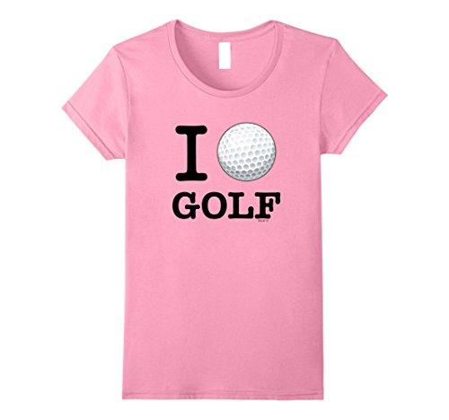 Womens I Love Golf T-Shirt, Golf Ball Tee Shirt Golfer Gi...