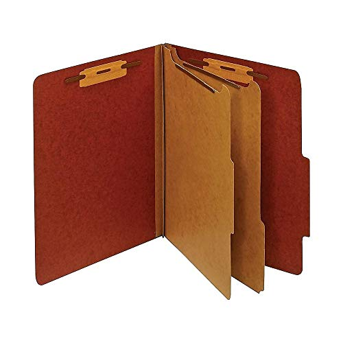 (Staples 100% Recycled Classification Folders, Letter, 2 Partitions, Red, 20/box)