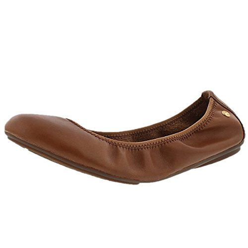 Hush Puppies Women's Chaste Ballet Shoe, Cognac, 7 M US