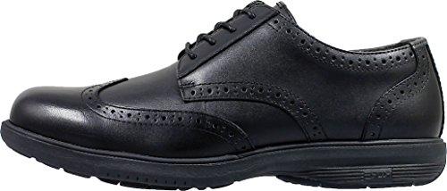 Nunn Bush Men's Maclin Street Wing Tip Oxford, Black (9.5 M) (Nunn Bush Slip Resistant)