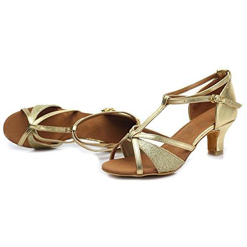 latino IT255 sala Scarpe Modello da da Ballroom scarpe standard Raso HIPPOSEUS ballo Donna di ballo da Scarpe 5cm Oro ballo Xxp7WwzTqa