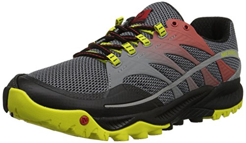 Merrell All Out Charge Herren Trekking- & Wanderhalbschuhe Mehrfarbig (Molten Lava/Bright Yellow)