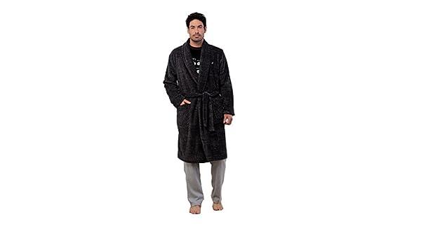 Amazon.com: Massana - Mens Velvet Dressing Gown MASSNA Winter Nightwear (Striped Black): Clothing