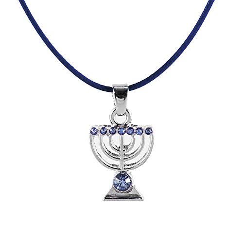 (Sky MENORAH Necklace Israel Jewish Kabbalah Judaica Jewelry)