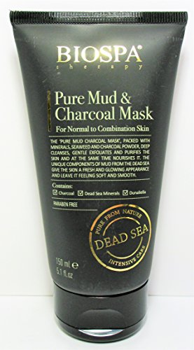 Bio Spa Dead Sea Intensive Care Therapy Pure Mud & Charcoal Mask (normal to combination skin) 5.1 Oz / 150 ml (Combination Therapy)