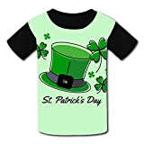 Youth Unisex Kids Short Sleeve Hat and Clover for St Patrick's Day T-Shirts Tees for Children Boys Girls