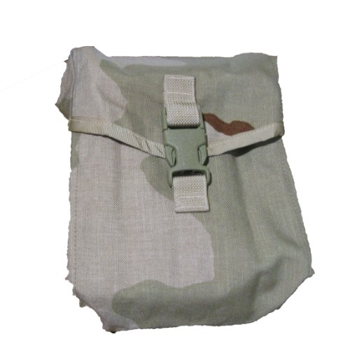 US ARMY Military Surplus Desert Camo Molle II 200 Round Saw Gunner Pouch