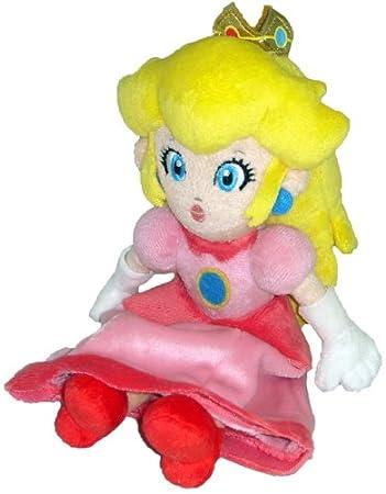 Amazoncom Super Mario Plush  8 Princess Peach Soft Stuffed