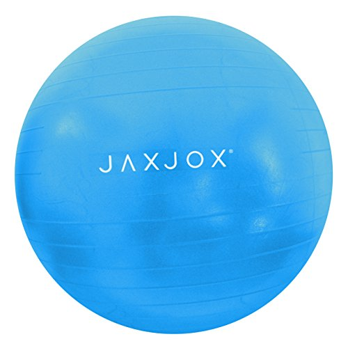 JAXJOX Balance Stability Gym/Swiss Ball 65cm (pump included), Blue