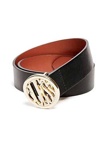 GUESS Factory Women's Logo Buckle Belt (Leather Logo Buckle)
