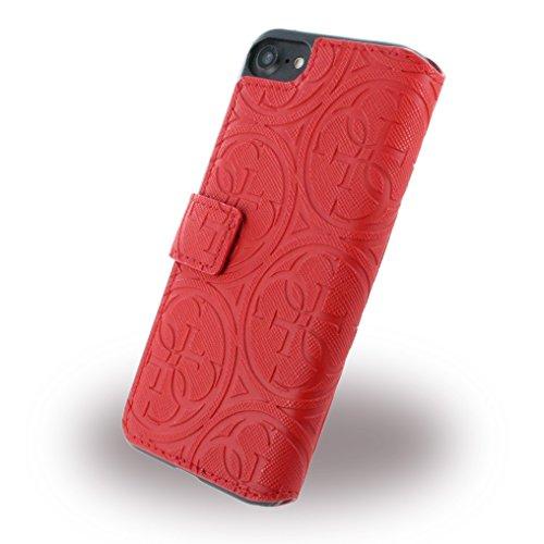Guess GUFLBKP7SLHERE Heritage Booktype Schutzhülle für Apple iPhone 7 rot