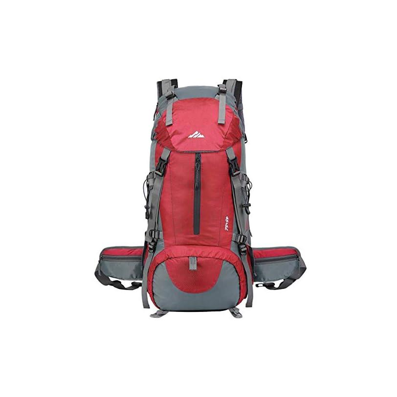 Lukasa – Zaino da Trekking 50L impermeabile con parapioggia