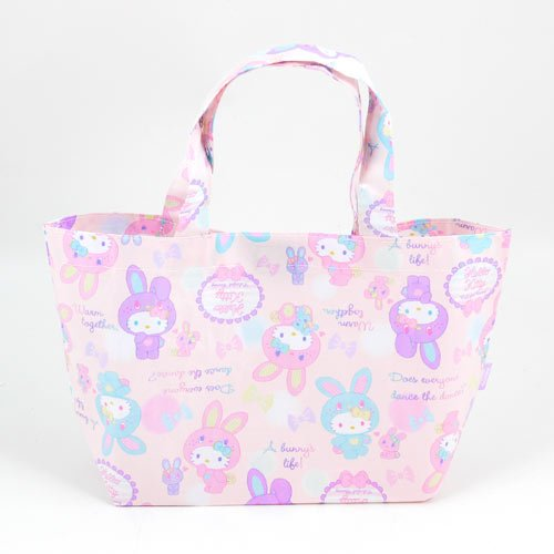 Hello Kitty Lunch Tote: Colorful Bunny - Hello Kitty Mesh Tote