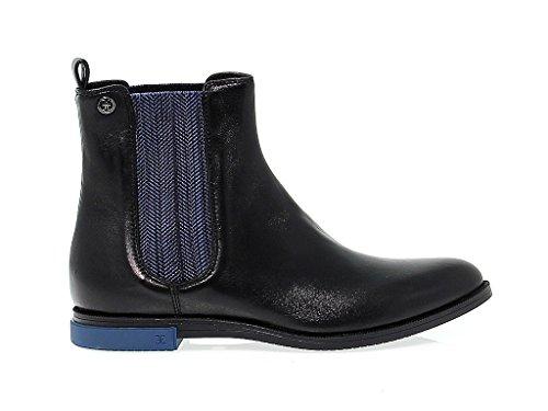 Fabi Women's FD1828BLU Black Leather Ankle Boots NqLujBLpLy