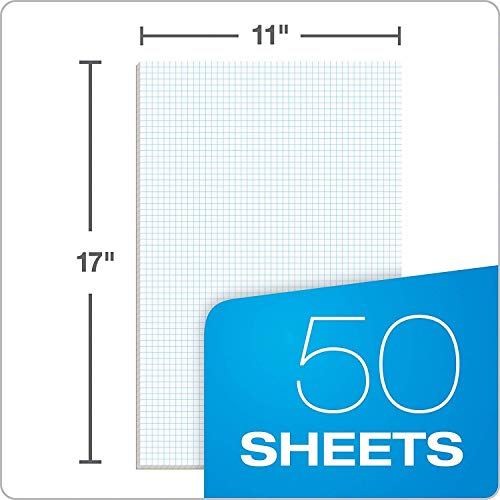 Ampad Quadrille Double Sided Pad, 11 x 17, White, 4x4 Quad Rule, 50 Sheets, 10 Pads, 500 Sheets Total (22-037) by Ampad (Image #4)