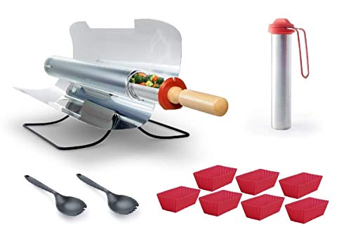 GOSUN Sport - Grill Solar Cooker Kit with Spork Eating Utensil Set, 7 Silicon Baking Trays Brew from Off-Grid Gear 2 Go