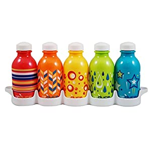 Reduce WaterWeek Kids 10oz Kaleidoscope - Water Bottle Set with Fridge Tray (5 Pack)