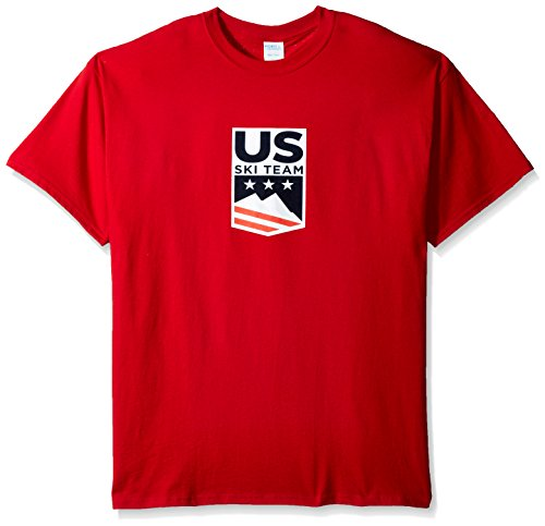 US Ski-Snowboard Licensed Apparel U.S. Ski Team Logo s/tee, Red, - Shop Us