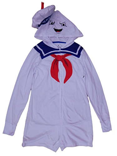 Ghostbusters Junior Womens Stay Puft Halloween Costume Jumpsuit