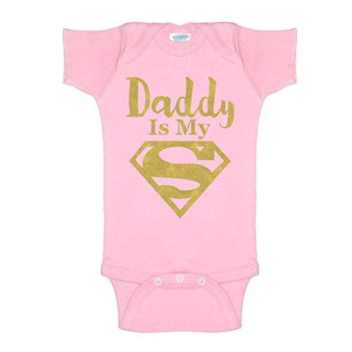 Superman Baby Outfit (Daddy Is My Superman Glitter One-Piece Baby Onesie Bodysuit)