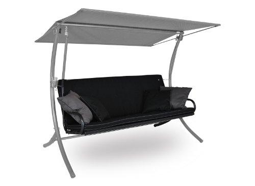 Angerer Royal Style Schaukelauflage Style, Schwarz/ Hellgrau, 3-Sitzer