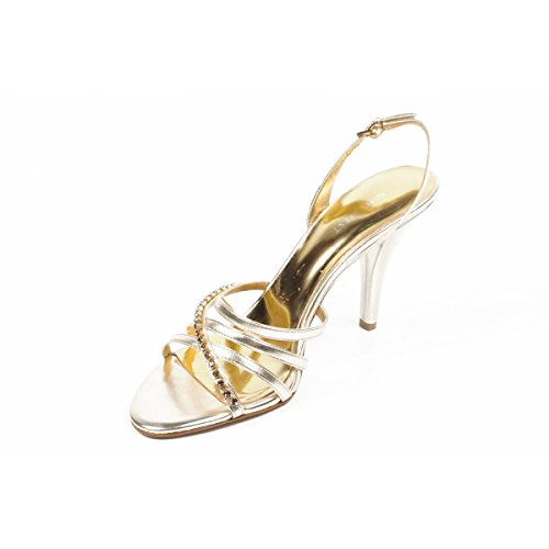 Gold Arrière Bride à Nwminerva West Sandales Femmes Nine nOqw074C