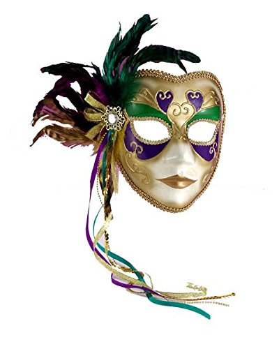 Mardi Gras Masquerade Full Venetian Female Mask for $<!--$12.76-->