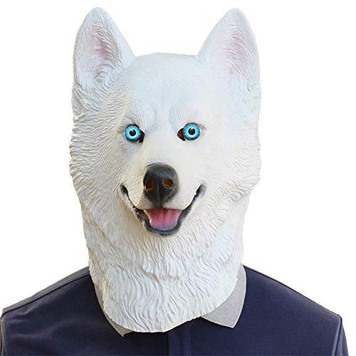 Halloween Siberian Husky Dog Latex Mask Novelty Costume
