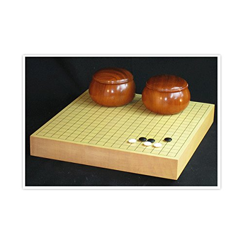 囲碁セット  新榧 2寸卓上碁盤(ハギ) 本蛤碁石 碁笥の商品画像