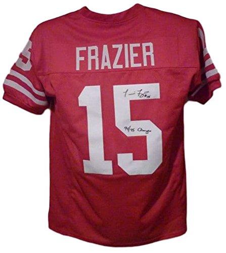 Tommie Frazier Autographed/Signed Nebraska Cornhuskers XL Red Jersey