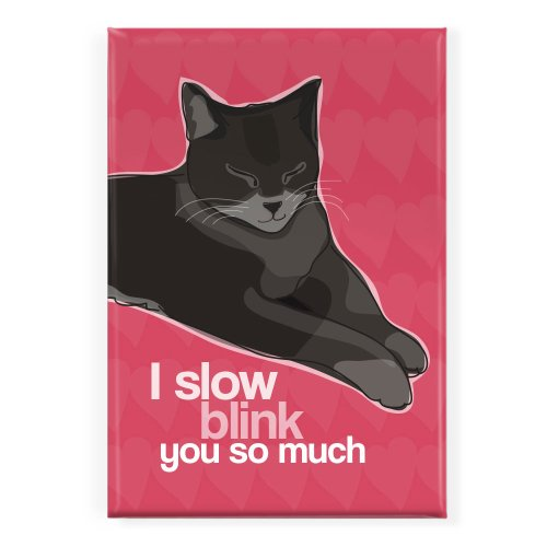 (Pop Doggie I Slow Blink You So Much Cat Fridge Magnet)