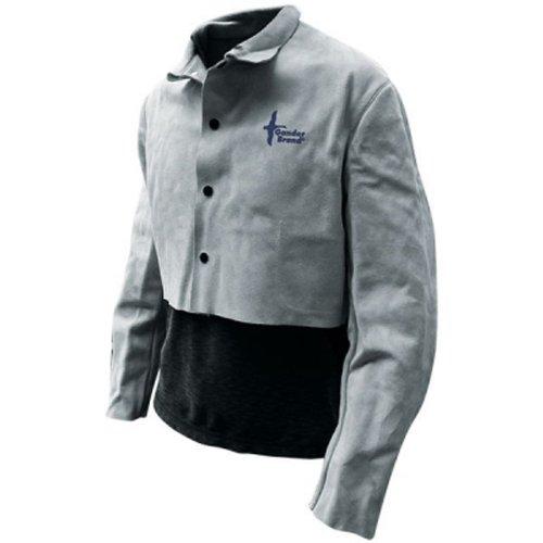 Bob Dale 64-1-51P-M Premium Pearl Split Leather Half Welders Jacket with Welts, Medium, (Split Leather Welders)
