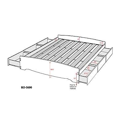 White Full Mate's Platform Storage Bed