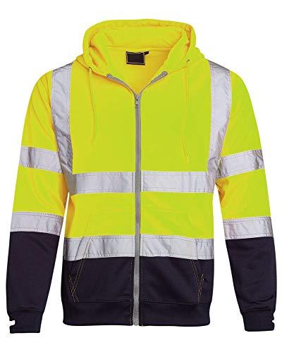 [해외]Shelikes Hi Vis 비주얼 리제이 션 가시성 투 톤 지퍼 지퍼 후드 스웨트 셔츠 탑 / Shelikes Hi Vis Viz Visibility Two Tone Zipped Zip Hooded Sweatshirt Jacket Top