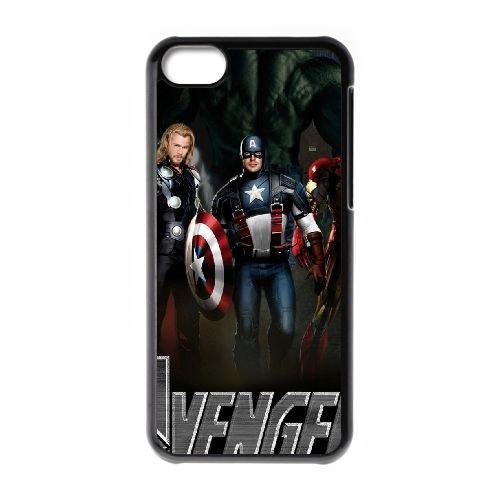 K7S13 Scarlett Johansson The Avengers W4J0XT cas d'coque iPhone de téléphone cellulaire 5c couvercle coque de FY1LVN8DD noir