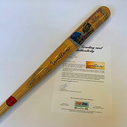 - Beautiful Ernie Banks Signed Cooperstown Bat Graded MINT 9 Chicago Cubs - PSA/DNA Certified - MLB Autographed Game Used Bats
