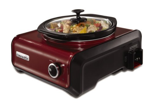 Crock-Pot SCCPMD2-R Hook Up Round Connectable Entertaining Slow Cooker System,