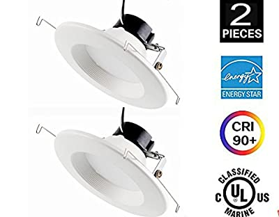CY LED 6 Inch Dimmable LED Downlight,Energy Star,UL List 16W (100W Equivalent) 3000K Warm White 980Lm,Retrofit LED Recessed Lighting Fixture,Ceiling Light