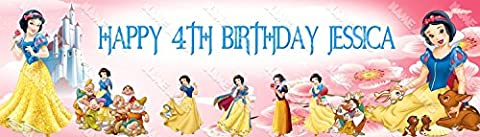 Personalized / Customized Snow White and the Seven Dwarfs Name Poster Wall Decor Door Birthday Art - Snow White Pictures