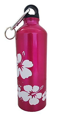Aluminum Sport Water Bottle, Great for Outdoor and Sport Activities. Plastic Screw lid Looped on The Top