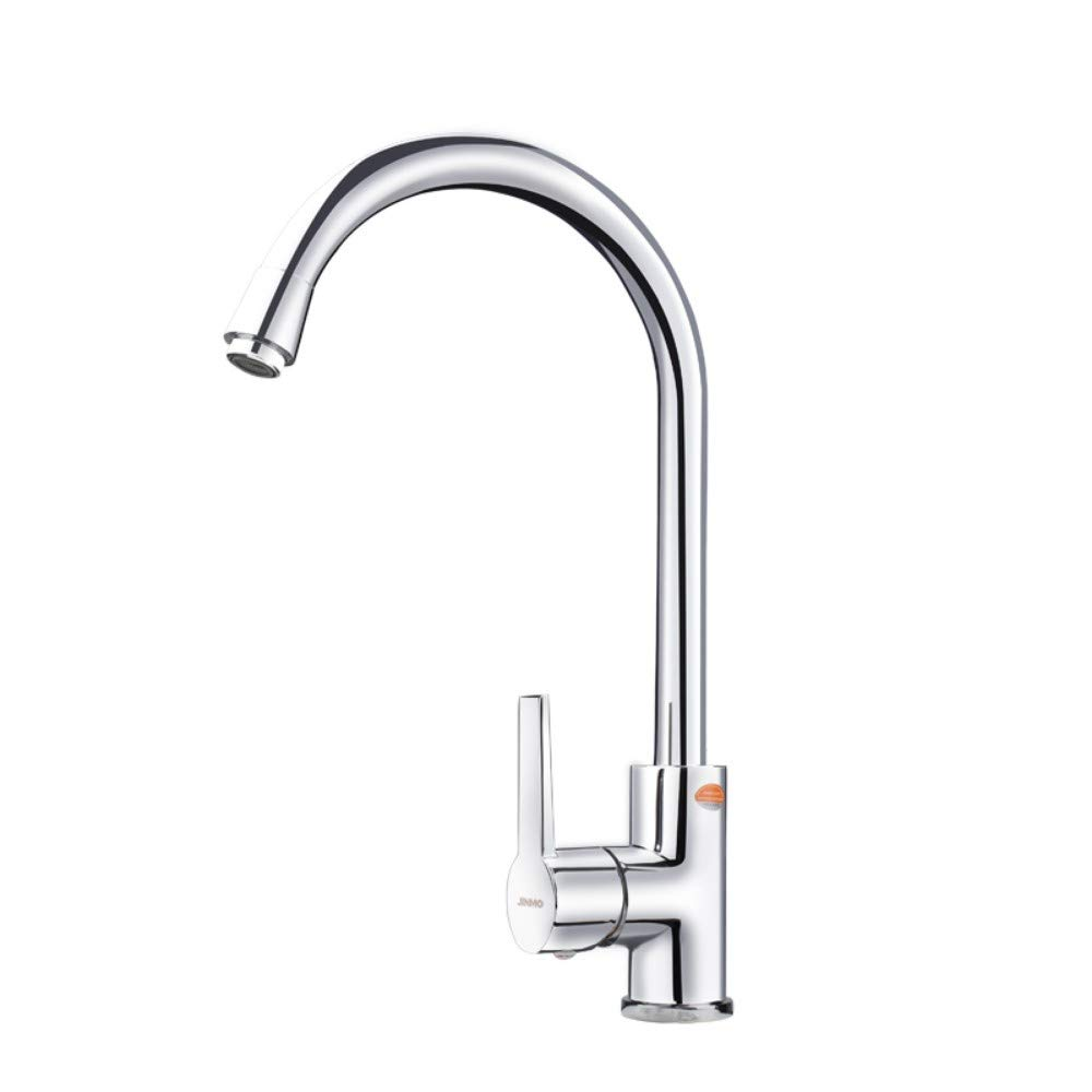 Faucet kitchen hot and cold faucet all copper kitchen sink faucet sink 360° redation